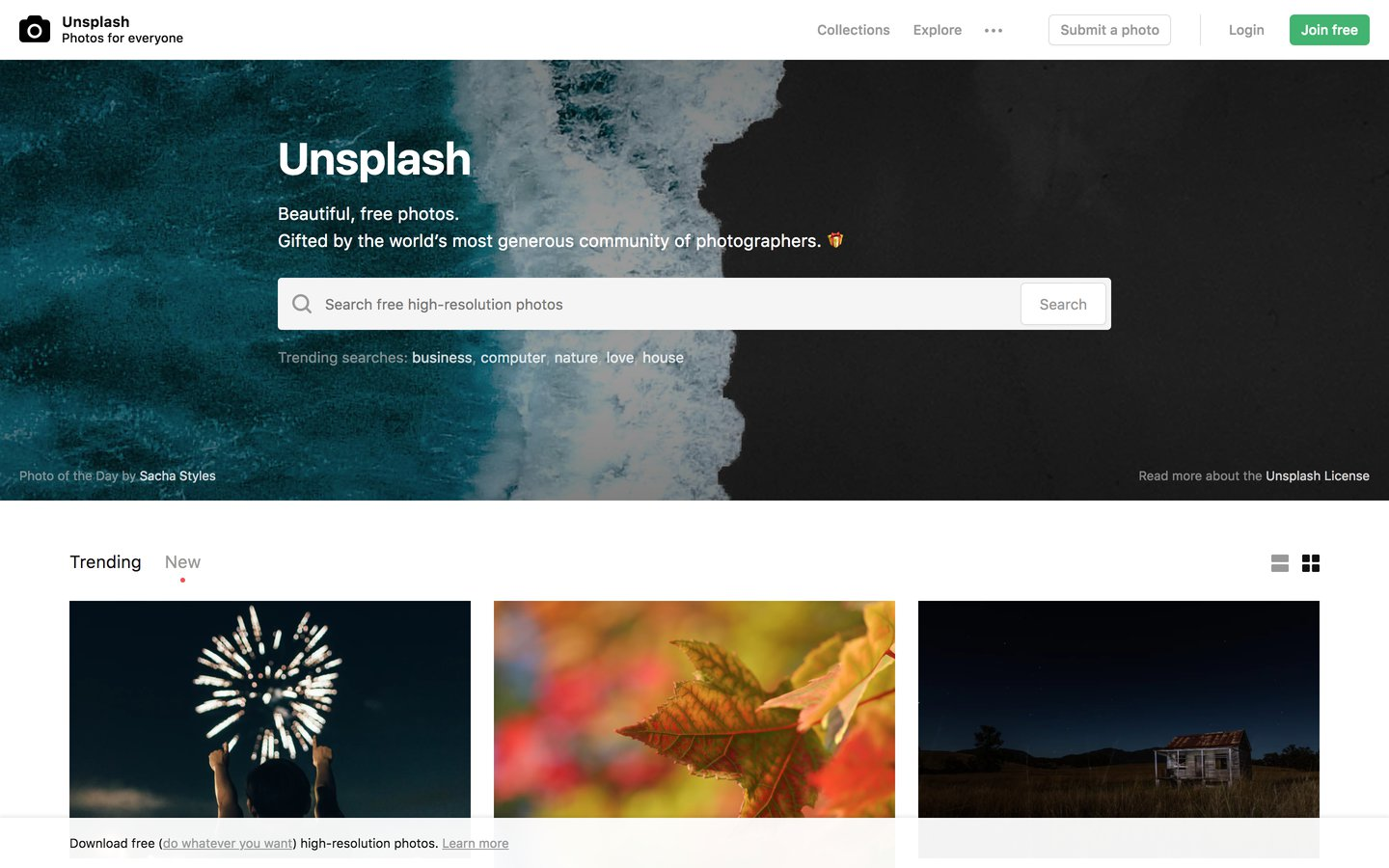 Unsplash | Photos for Everyone