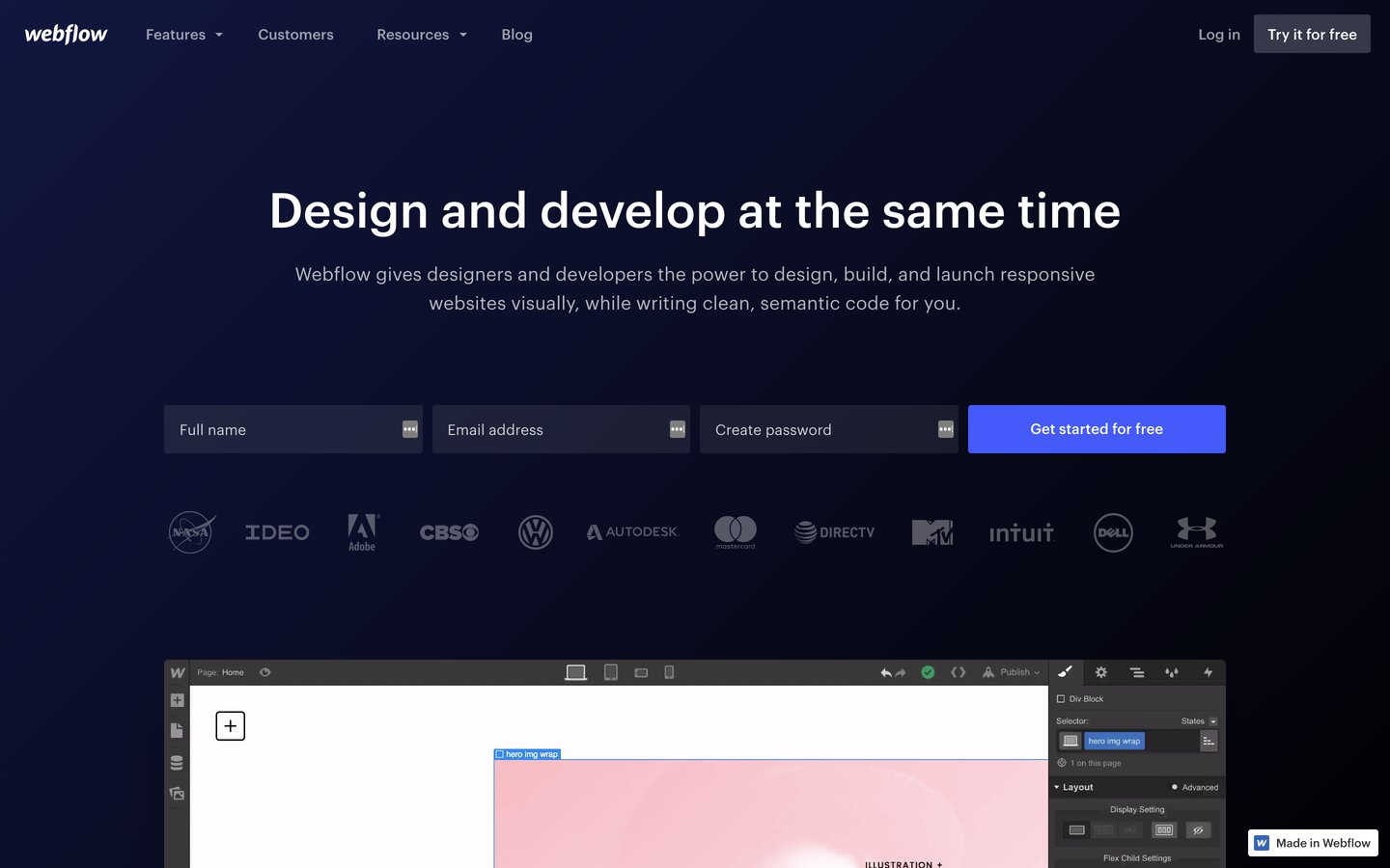 Webflow: Responsive web design tool, CMS, and hosting platform